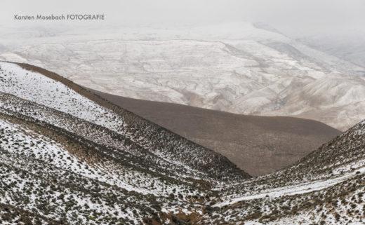 Schnee in Jordanien, Foto aus dem Fotobuch Jordanien vonKarsten Mosebach