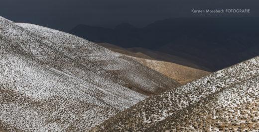 Schnee in Jordanien, Foto aus dem Fotobuch Jordanien von Karsten Mosebach